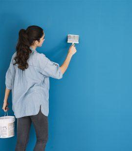 kék színű fal